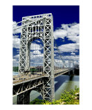 George Washington Bridge on a Glorious Day Giclee Print by New Yorkled