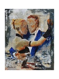 Dancers in Love Giclee Print by Ledent 