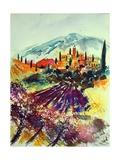 Watercolor Provence Landscape 080507 Arte por  Ledent