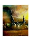 Dinant Church in an Autumnal Mist Posters por  Ledent