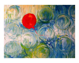 one red balloon Giclee Print by J Ironside