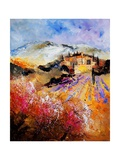 Provence, Cherry Trees, Lavender Fields Giclee Print by  Ledent