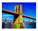 Brooklyn Bridge Dreaming Giclee Print by New Yorkled