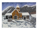 Old Mission in Winter Giclee Print by M Collins