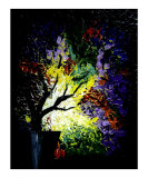 Abstract Colorful Textured Tree Giclee Print by Teo Alfonso