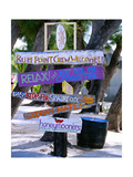 Fun Signpost at Run Point, Cayman Islands Photographic Print by George Oze