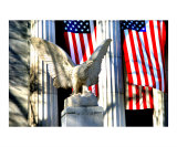 Eagle and Flags Giclee Print by New Yorkled