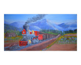 Train in the Spring Giclee Print by Tammy Grahamlewis