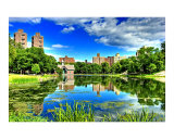 Reflections at the Harlem Meer, NYC Giclee Print by New Yorkled