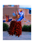 Chile Ristras of Taos, New Mexico Photographic Print by George Oze