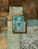 Petites Fleurs sur le Bleu I Kunstdrucke von Norm Olson