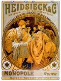 Heidsieck Giclée-Druck von Alphonse Mucha