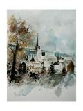 Watercolor Houyet Giclee Print by  Ledent
