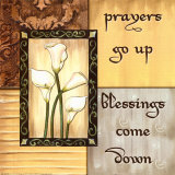 Golden Reflection, Prayers Go Up Prints by Debbie DeWitt