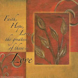 Spice Blocks, Faith Hope Love Poster by Maria Girardi