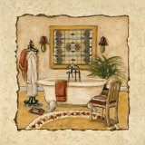 Art Deco Bath II Print by Charlene Winter Olson