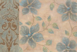 Blue Damask Romance I Prints by Janet Tava