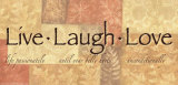 Words to Live By: Live Laugh Love Poster by Angela D'amico