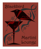 Blackbird Martini Lounge Red Photographic Print by Liza Phoenix