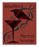 Blackbird Martini Lounge Red Photographic Print by Liza Phoenix