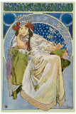 Princezna Hyacinta Lmina gicle por Alphonse Mucha