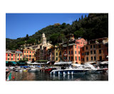 Architecture of Portofino Photographic Print by Donna Corless