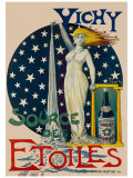 Vichy Etoiles Giclee Print by  Tulus