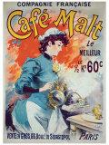 Cafe Malt Giclee Print by Lucien Lefevre