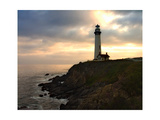 Sunset at Pigeon Point Lighthouse Photographic Print by George Oze