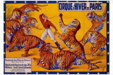Dompteurs de Tigres, Cirque d'Hiver Giclee Print by G. Soury