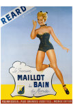 Reard le Premier Maillot de Bain Giclee Print