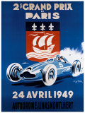 Grand Prix de Paris, 24 Avril 1949 Reproduction procédé giclée par Geo Ham