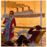 Steamer New York le Havre France Giclee Print