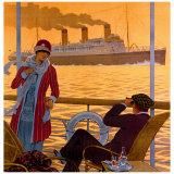 Steamer New York le Havre France Giclee Print
