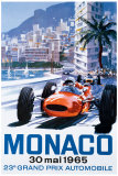 Grand Prix Monaco, 30 maj 1965 Giclée-tryk