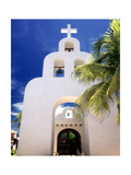 White Adobe Chapel Photographic Print by George Oze