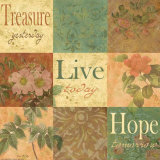 Shabby Chic Nine Patch: Treasure Poster par Grace Pullen