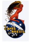 Cafe du Bresil Giclee Print by Leon D'ylen