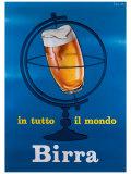 In Tutto il Mondo Birra Giclée-tryk af E. Arvati