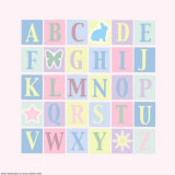 Alphabet on Pink Prints by Marilu Windvand