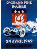 Grand Prix de Paris, 24 Avril 1949 Giclee Print by Geo Ham