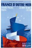 France d'Outre-Mer Giclée-tryk af Paul Colin