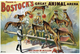 Bostock's Great Animal Arena Giclee Print