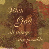 Words to Live By: With God Posters by Marilu Windvand