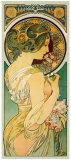La Primevere Giclée-tryk af Alphonse Mucha