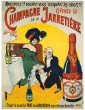 Champagne de la Jarretiere Giclee Print
