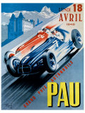 Grand Prix Automobile de Pau, 1949 Reproduction procédé giclée par Andre Bermond