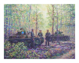 Tanks Waiting in the Forest Giclee Print by jack connelly