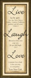 Sage Sign, Live Laugh Love Psters por Debbie DeWitt