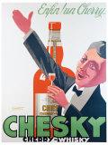 Whiski Chesky Giclee Print by  Delavat